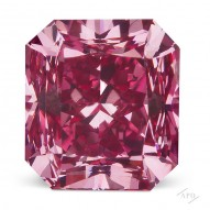 0.49ct Radiant Fancy Vivid Purplish Pink SI1 GIA