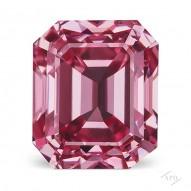 0.58ct Emerald Cut Fancy Vivid Purplish Pink VS2 GIA