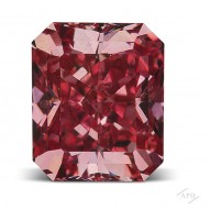 0.64ct Radiant Fancy Red SI2 GIA