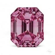 0.52ct Emerald Cut Fancy Vivid Purplish Pink VS2  Argyle Tender stone
