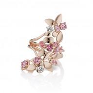 Argyle Long Floral Ring