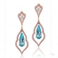 Aquamarine Decorative Drop Earrings