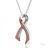 Argyle Breast Cancer Awareness Pendant