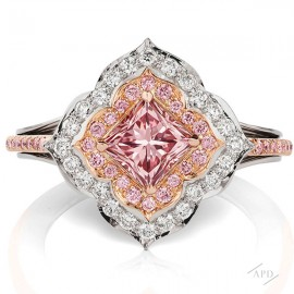 1.01ct  Intense Argyle Pink Diamond Ring