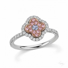 Argyle Blue Azalea Halo Ring