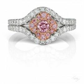 Argyle Pink Azalea Split Shank Ring