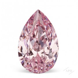 0.70ct Pear Shape Fancy Purplish Pink SI2 GIA
