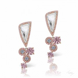 Argyle Rose Cut Drop Earrings