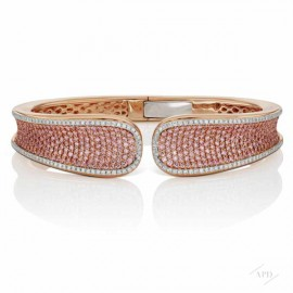 Pink Diamond Bangle Bracelet