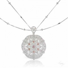 Argyle White Gold Medallion Pendant