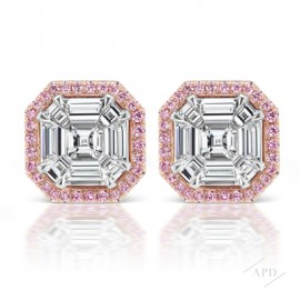 Invisibly Set Asscher Cut Studs