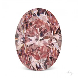 1.45ct Oval Fancy Intense Pink I1 GIA