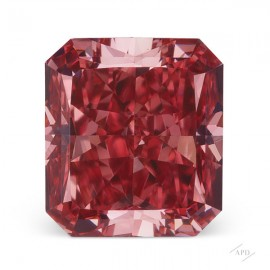 0.50ct Radiant Fancy Deep Pink VS2 GIA