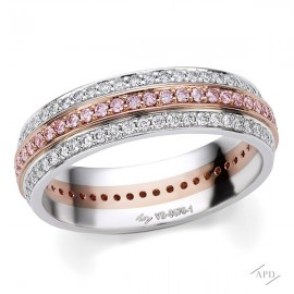 Argyle 3 Row Eternity Band