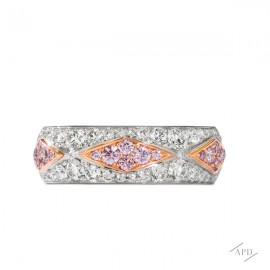 Argyle Motif Diamond Band