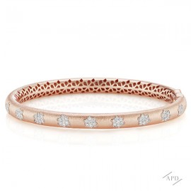 PInk Gold and Diamond Bangle Bracelet