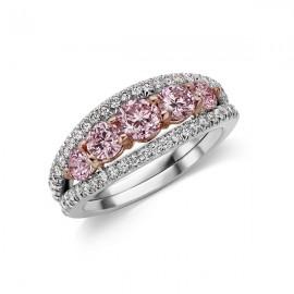 Argyle Vivid 5 Stone Ring