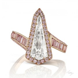 Kite Shape Ring with Argyle Pink Diamonds