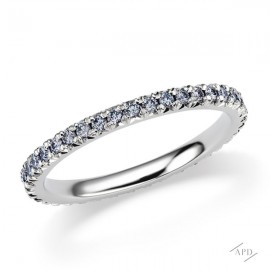 Argyle Blue Diamond French Pave Band