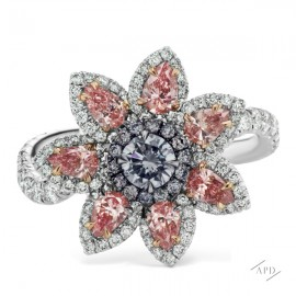 Argyle Floral Custer Ring
