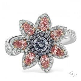 Argyle Floral Custer Ring