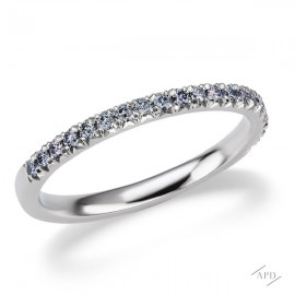 Argyle Blue Diamond French Pave Half  Band