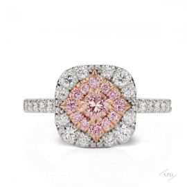 Argyle Diamond Halo Ring