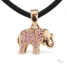 Argyle Elephant Pendant