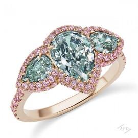 1.75ct Fancy Light Bluish Green Ring