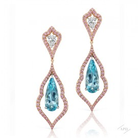 Aquamarine Decorative Drop Earrings