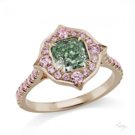 Argyle Green Diamond Ring