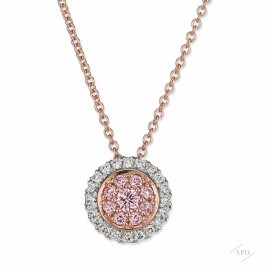 Argyle Bezel Halo Necklace