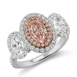 Oval Argyle Pink Diamond Ring