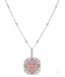 Argyle Diamond Halo Pendant