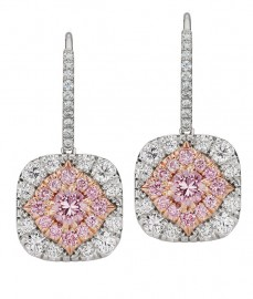 Argyle Diamond Halo Earrings
