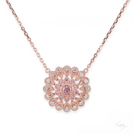 Argyle Pink Gold Starburst Necklace