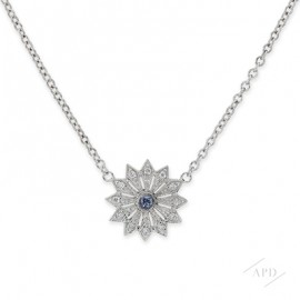 Argyle Mini Blue Starburst Necklace
