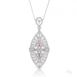 Argyle Marquise Shape Medallion Pendant
