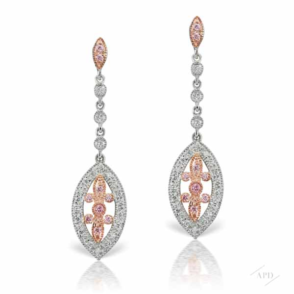 Argyle Art Deco Drop Earrings