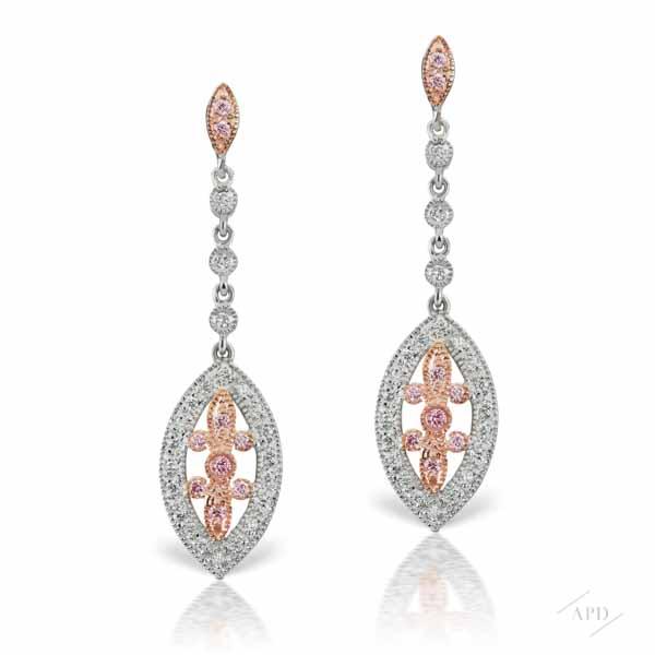 Argyle Art Deco Drop Earrings