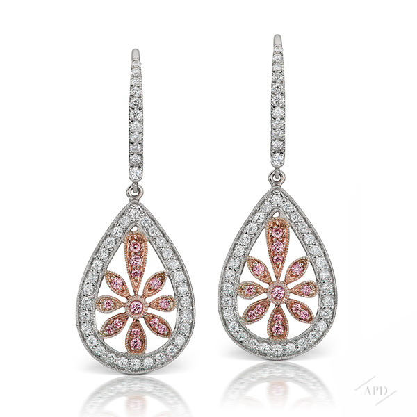 Argyle Floral Drop Earrings