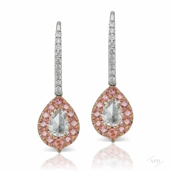Argyle Rose Cut Earrings