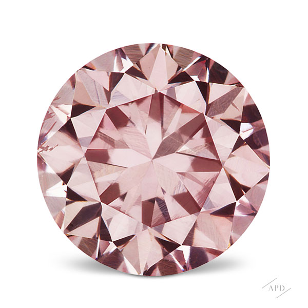0.63ct Round Fancy Pink SI1 GIA