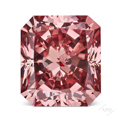 0.74ct Radiant Fancy Deep Pink SI1 GIA