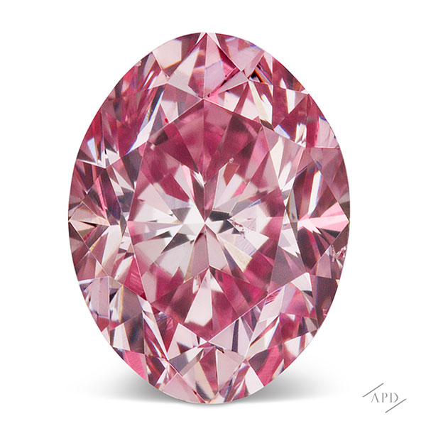 0.38ct Oval Intense Pink Diamond