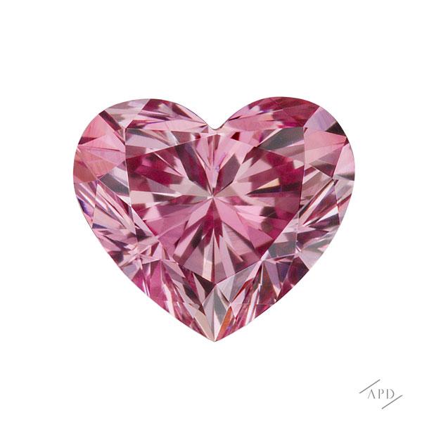 0.15ct Heart Shape Purplish Pink Diamond VVS