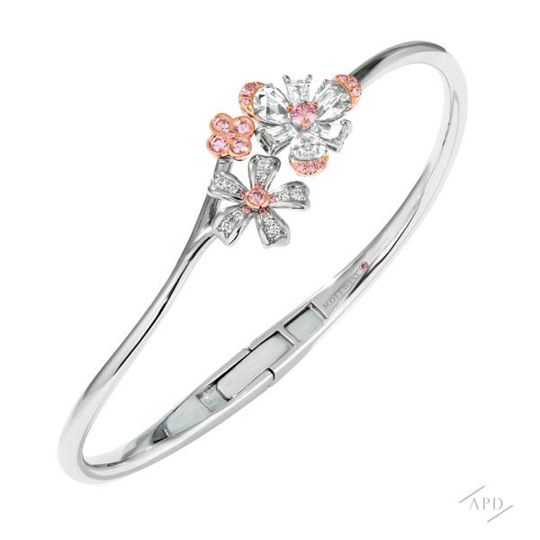 Sakura Flower Cuff Bracelet