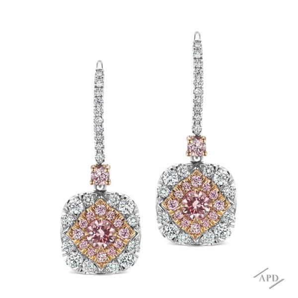 Argyle Diamond Halo Earrings