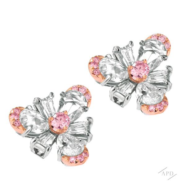 Sakura Flower Accented Earrings