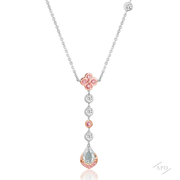 Argyle Sakura Drop Necklace